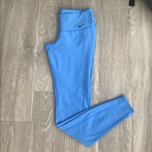 Baby blue nike leggings